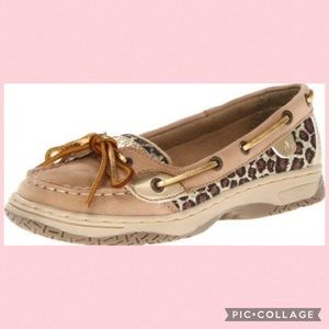 Sperry Angelfish Leopard Glitter Topsiders
